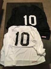Two New Ccm Ice Hockey Plain Practice Jerseys Xxl Roller Street Dek Deck #10 Nhl