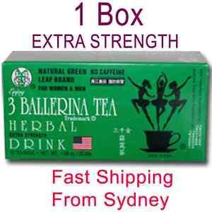 Ballerina Tea Herbal Drink Slim Tea Extra Strength X 1 Box 18 Bags Slimming Tea