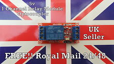 5V 1 Channel Relay Module with Optocoupler H/L High Level Trigger for Arduino UK