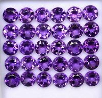 AAA QUALITY NATURAL AMETHYST ROUND CUT PURPLE 5 MM LOOSE GEMSTONE LOT