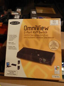 BELKIN ONMIVIEW 2-WAY KVN  SWITCH BOX MODEL F1DB102P NO CABLES