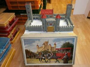 alte Hausser Elastolin Ritterburg Die Graue Burg zu 4cm im bunten Originalkarton