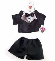 Teddy Bear Clothes fit Build a Bear Teddies Tuxedo Groom Wedding Bears Clothing