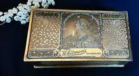 Vintage Whitmans Salmagundi Chocolates Metal Tin Box Art Nouveau Gold container