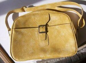 Vintage Samsonite Yellow Luggage Travel Bag