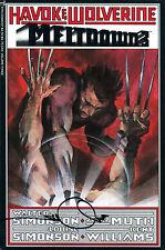 Havok & Wolverine Meltdown #3 Signed By Artist Walter Simonson