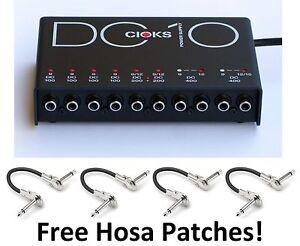 New CIOKS DC10 Guitar Pedal Power Supply Free Hosa Patches DC 10