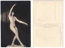 Nackte Frau b.Gymnastik, girl female nude,Wolfson Foto Hamburg c.1950 RPPC