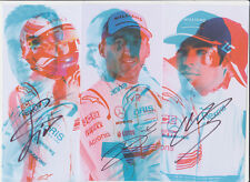 Williams F1 Card 3x Postcards Hand Signed Autographs Kubica Strolll Sirotkin