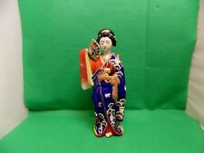 Rare Japanese Geisha Figurine 19th Imari in Rich Decorated Kimono