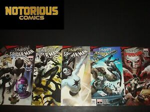 King in Black Symbiote Spider-Man 1-5 Complete Comic Lot Run Set Marvel