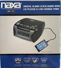 New ListingNaxa Nrc-175 Digital Alarm with Digital Tuning Am-Fm Radio and Cd Player Nib