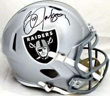 BO JACKSON SIGNED RAIDERS FULL SIZE SPEED REPLICA HELMET BECKETT (BAS) COA
