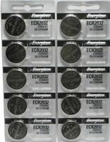 Lot of 10 Energizer ECR2032 Genuine Fresh Date CR2032 2032 Lithium 3V Batteries