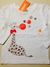*NWT GYMBOREE* Girls RIGHT MEOW Long Sleeve Bubbles Giraffe Sparkle Top 18-24M