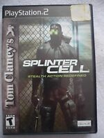 Tom Clancy's Splinter Cell Sony PlayStation 2 Stealth Action Redefined Black PS2
