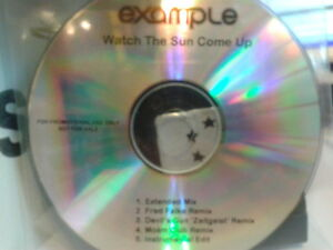 Example - Watch The Sun Come Up CDr single 2009 MINT Fred Falke Moam Extended