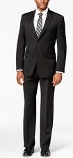 Tommy Hilfiger 7625 Black Athletic-Fit Suit Size 44R Pants Size 46-38