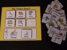 My Choice Board Communication Visual Aid for Autism/ADHD/ADD/Visual Learners/SEN