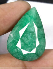 39.79ct  Certified Large Natural Emerald Pear shape cut & facet - Brazil - COA