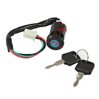 Ignition Switch Lock Key 4 Wire Fit Moped Scooter Pit Dirt Bike Quad ATV Go Kart