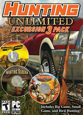 Hunting Unlimited Excursion 3 Pack PC Games Windows 10 8 7 XP Computer deer NEW