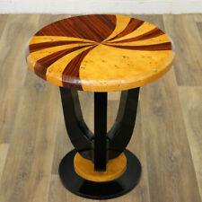 ART DECO BAR TABLE, runder Beistelltisch, LAMPENTISCH EDELHOLZ furniert, MASSIV