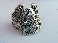 Silver Eagle / American Biker Men's Ring * Biker* harley * motorcycle