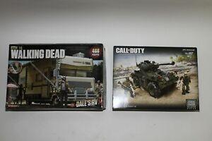Mega Bloks Call Of Duty APC Invasion & McFalane AMC Walking Dead Dale's RV LOT