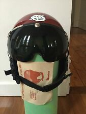 Prolite Gentex Helmet Burgundy Visor ultralight aircraft / helicopter