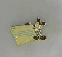 Disney Mickey Walt Quote Le Gold Card Series Pin