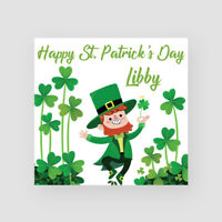 Personalised Handmade St Patrick's Day Card - Him/Her, Paddy, Leprechaun, Clover