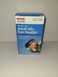 CVS Adult 50 + Eye Health Dietary Supplement 90 Softgels Exp. 3/2022