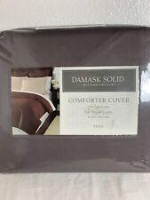 NIP Charter Club Damask Solid Comforter Cover Twin  100% Pima Cotton