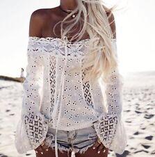 Maglia Donna Primavera Pizzo Spalle Scoperte Woman Lace T-shirt 561052 P