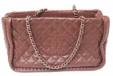 AUTHENTIC 2012 CHANEL ISTANBUL SOFT CAVIAR TOTE BURGUNDY LEATHER HANDBAG