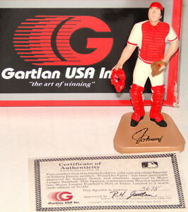JOHNNY BENCH Cincinnati Reds Hall Of Fame Catcher 1989 Gartlan USA Mini Figurine