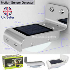 SOLAR POWER MOTION SENSOR DETECTOR 16 LEDs OUTDOOR LIGHT HOME SECURITY LAMP