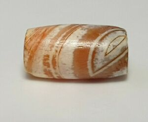 ANCIENT RARE INDUS BANDED AGATE PATINIZED EYE BEAD