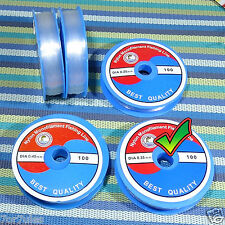 2 Carretes Hilo 0.35mm Transparente Especial Engarce Filo Thread Fil Pesca H035