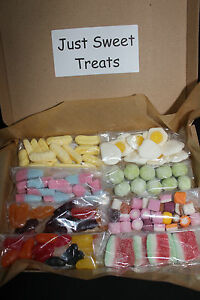 Gift Box Sweets Retro Selection Candy - Birthday Belated Christmas Present Kids