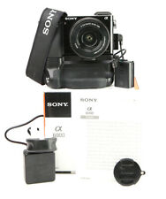 Sony A6000 DSLR Camera & 16-50mm OSS Lens Kit with Battery Grip  WiFi +1080p HD