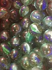 10 30mm Vintage Catseye Sparklers Shooter Marbles Blue/Green/White/Orange/Clear