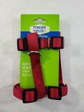 "Forever Pals Medium Nylon Adjustable DOG  Harness 12-20""  Red"