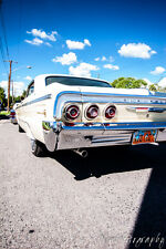 12x18 in Poster Hot Rod 1964 Chevy Impala Lowrider Vintage Garage Art Man Cave