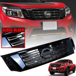 Front Bumper Grill Grille Gloss Black Edition For Nissan Navara NP300 2014-18