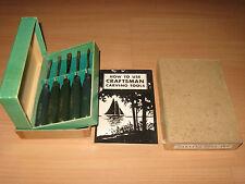 Vintage 5 Pc Sears Craftsman Carving Tool Set 1942 #2899 Chisel & Box