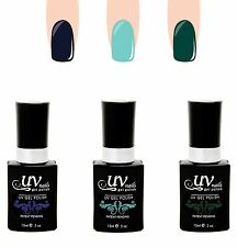 UV-Nails Lot of 3 UV LED Gel Polish Bottles- G68, G70, NE1 Salon Quality 15mL