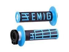 Grips Lock-On Odi Emig V2 Throwback Edition Black/blue Semi-embossed 4 stroke