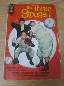 The Three Stooges #13 (Jul 1963, Gold Key) Baseball cover - GD